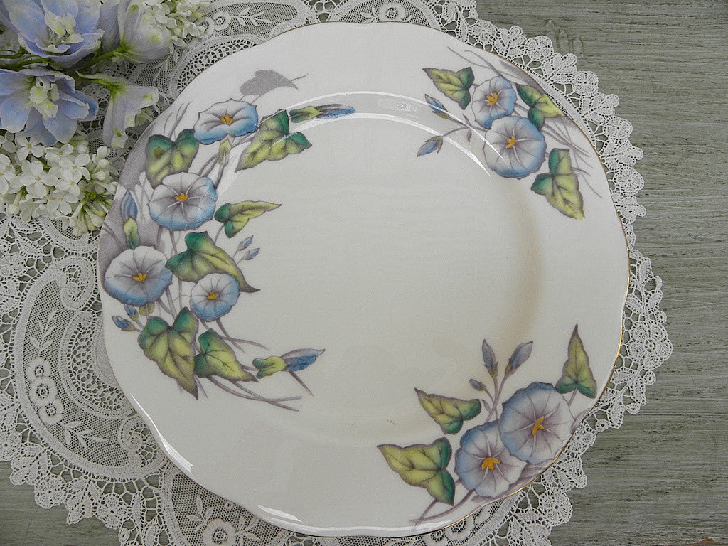 "Royal Albert Flower of the Month Series ""Morning Glory"" Plate - The Pink Rose Cottage"
