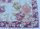 Vintage Pink and Purple Tulips Tablecloth