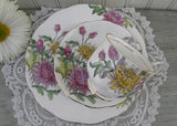 Vintage Royal Albert Flower of the Month Teacup & Plate Trio No 11 Chrysanthemum