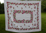 Vintage Lush Red Strawberry Garland Tablecloth Signed Elsa