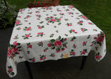 MWT Hardy Craft Random Rose Beautiful Pink Rose Tablecloth - The Pink Rose Cottage