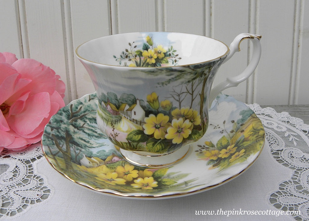 Vintage Royal Albert Teacup and Saucer Country Scenes Primrose Hill