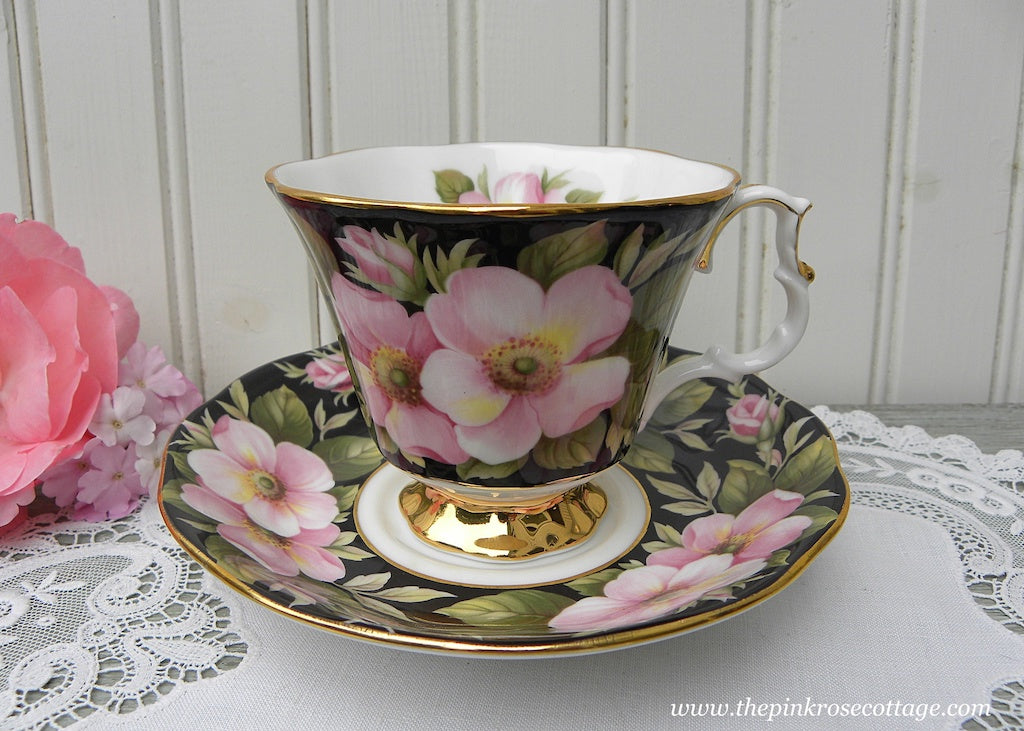 Vintage Royal Albert Provincial Flowers Alberta Rose Teacup and Saucer