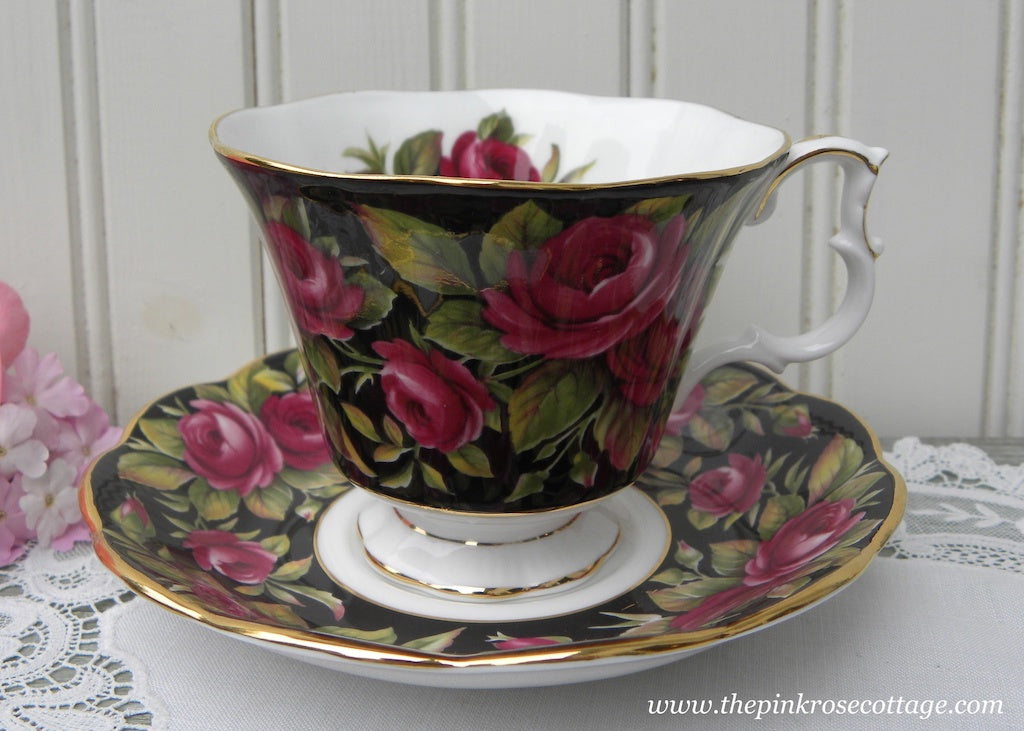 Vintage Royal Albert Bouquet Series Crimson Glory Rose Teacup and Saucer