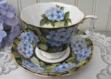 Vintage Royal Albert Bouquet Series Hydrangea Teacup and Saucer