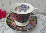Vintage Royal Albert Bouquet Series Anemone Teacup and Saucer