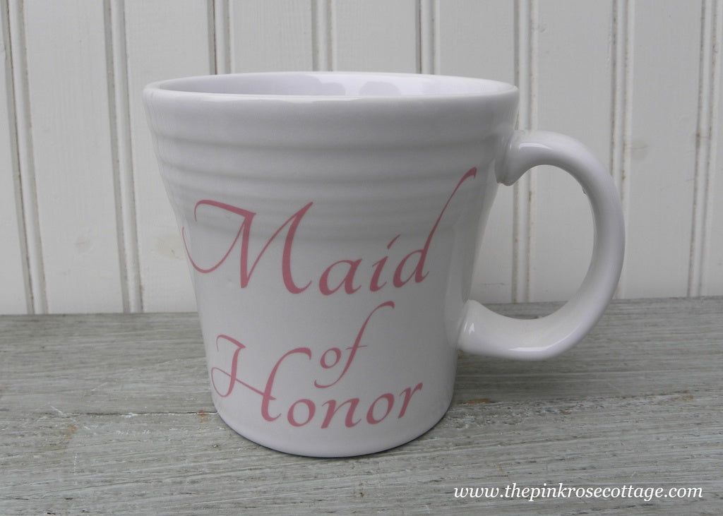 Fiesta Fiestaware Maid of Honor Tapered Wedding Mug