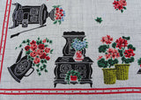 Vintage Simtex Grandmothers Kitchen Memories Tablecloth