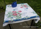 Vintage Fiatelle Poppies and Anomies Floral Tablecloth