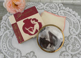 Unused Vintage Mascot Ladies Powder Compact English Cottage