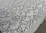 Vintage Boxed Extra Large Quaker Lace Imperial Tablecloth