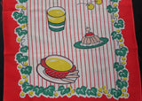 Vintage MWT Hadson Happy Couple Birthday Cake Tea Towel