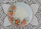 Vintage Hand Painted Plate with Red Currant Berries