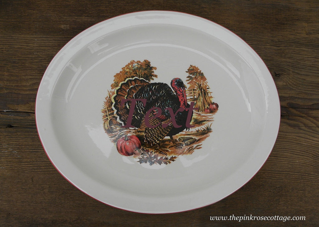 Homer Laughlin Oval Thanksgiving Turkey Platter