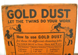 Unopened Box of Vintage Fairbank's Gold Dust Washing Powder Black Americana