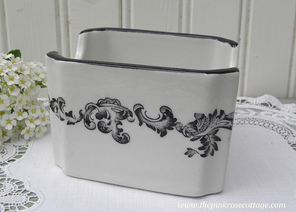 Vintage Hall China Black and White Restaurantware Sugar Packet Holder