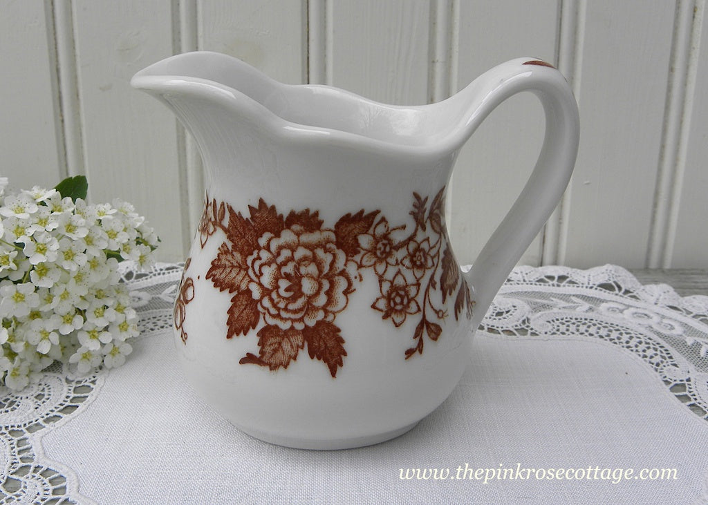 Vintage Jackson China Brown Restaurantware Creamer