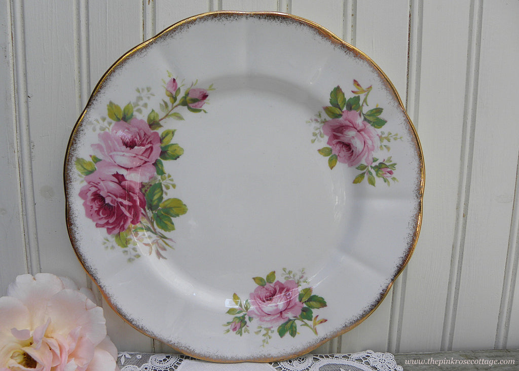 Vintage Royal Albert American Beauty Pink Rose 9 Inch Dinner Plate