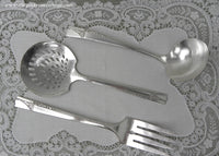 Vintage 1937 Nobility Caprice Art Deco Silver Plate Servings Spoons and Fork