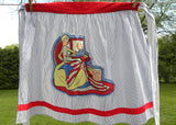 Vintage Betsy Ross George Washington Patriotic Apron by Theo