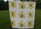 Vintage MWT Wilendur Royal Rose Yellow Roses Tablecloth