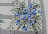 Vintage MWT Vicray KB Blue Tulips and Daisies Tablecloth