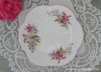Vintage Pink Shelley Stocks Bread and Butter Plate