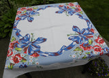 Vintage Trumpet Flowers and Daises with Big Bows Tablecloth