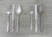 Vintage Childrens Aluminum Play Flatware Silverware Made in Germany