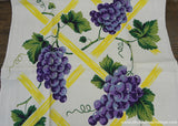 Unused Vintage Purple Grapes on a Vine Kitchen Tea Towel