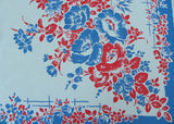 Red White and Blue Wild Roses and Daisies Tablecloth - The Pink Rose Cottage
