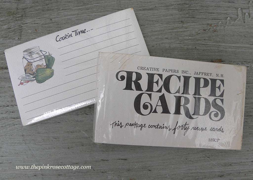 vintage unused recipe cards with canning jars the pink rose cottage