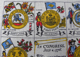 Vintage Patriotic Tea Towel The Thirteen United States of America Dolly Dembo