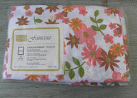 Vintage Perma-Prest Fantasia Pink Daisy Standard Pillowcases MIP