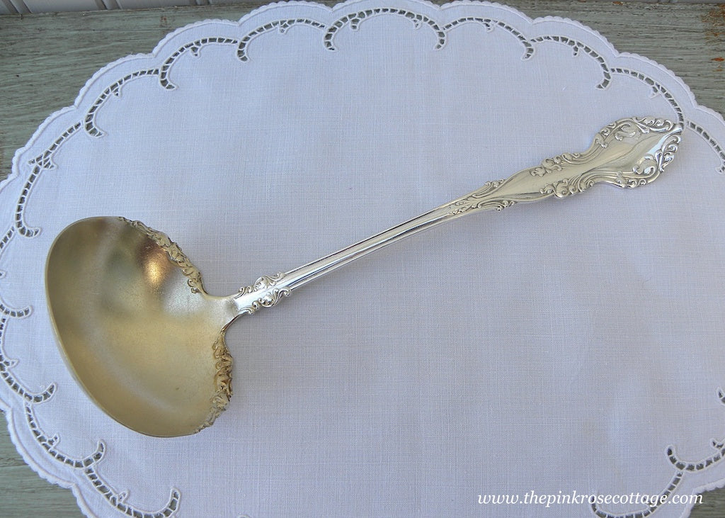 Antique 1898 Silver Plate Rogers & Bro New Century Large Ladle