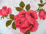"MWT Vintage Designers Prints ""American Beauty"" Pink Rose Terry Tablecloth - The Pink Rose Cottage"
