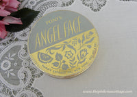 Vintage Pond's Angel Face Blue and Gold Powder Box