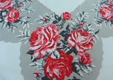 Vintage California Hand Prints CHP Striking Red Roses with Black and Gray