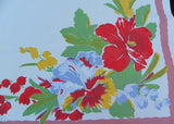 Vintage Wilendur Pansy Pansies Tablecloth Hard to Find