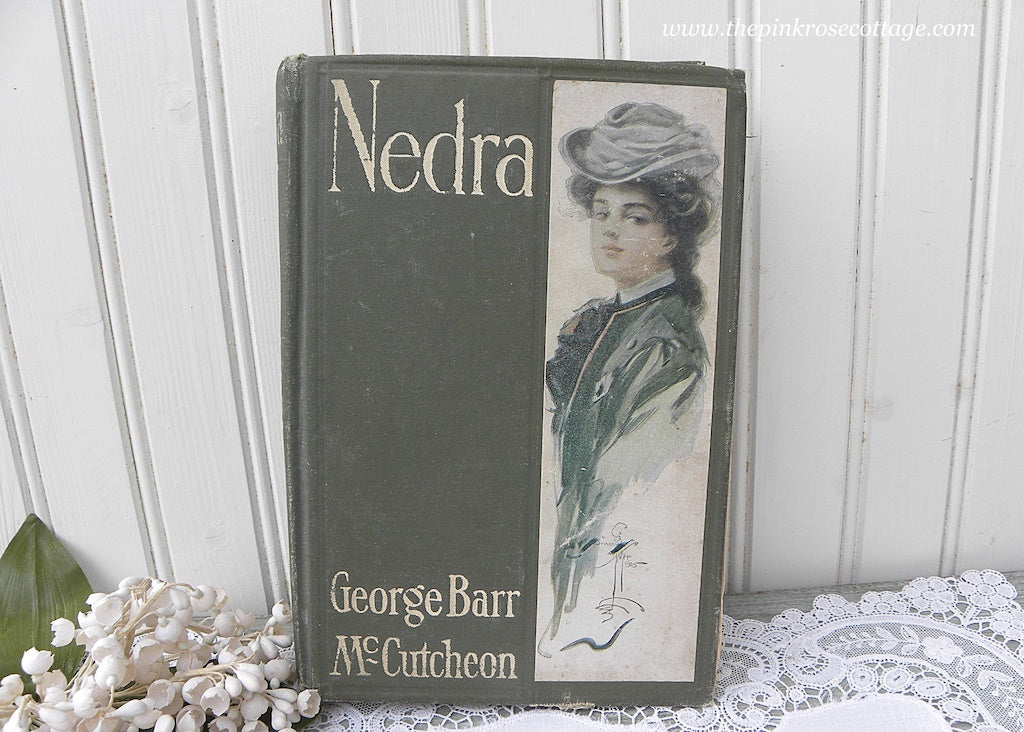 1905 Nedra Book by George Barr McCutcheon Illustrator Harrison Fisher