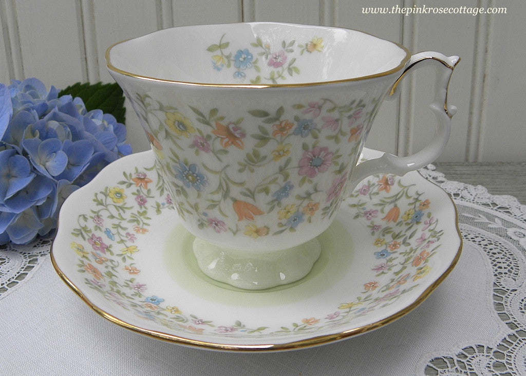 Vintage Royal Albert Harmony Series Ballade Pastel Chintz Tiny Flowers