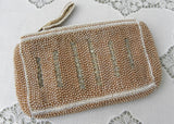 Vintage 1940's Charlet Beaded Rhinestone Evening Hand Bag