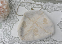 Vintage Pearl and Glass Italian Beaded Evening Handbag by Sarne