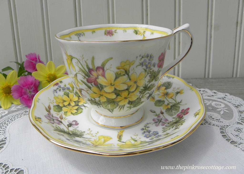 Royal Albert Country Bouquet Collection Warm Sunshine Buttercups Teacup - The Pink Rose Cottage