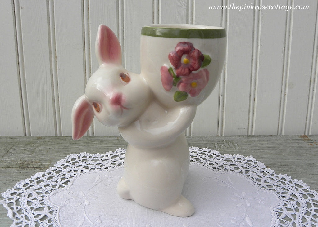 Vintage Sunny Bunny Luv Easter Egg Candle