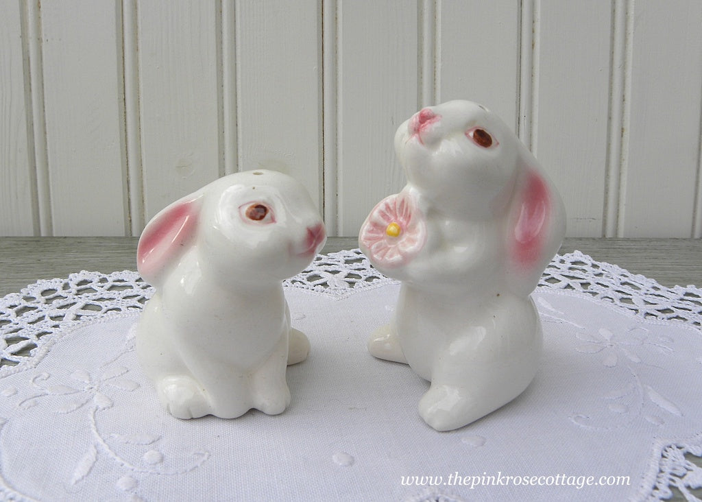Vintage Bunny Luv Salt and Pepper Shakers