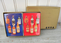 Unused Vintage Playing Cards with Liquor Bottles 2 Decks