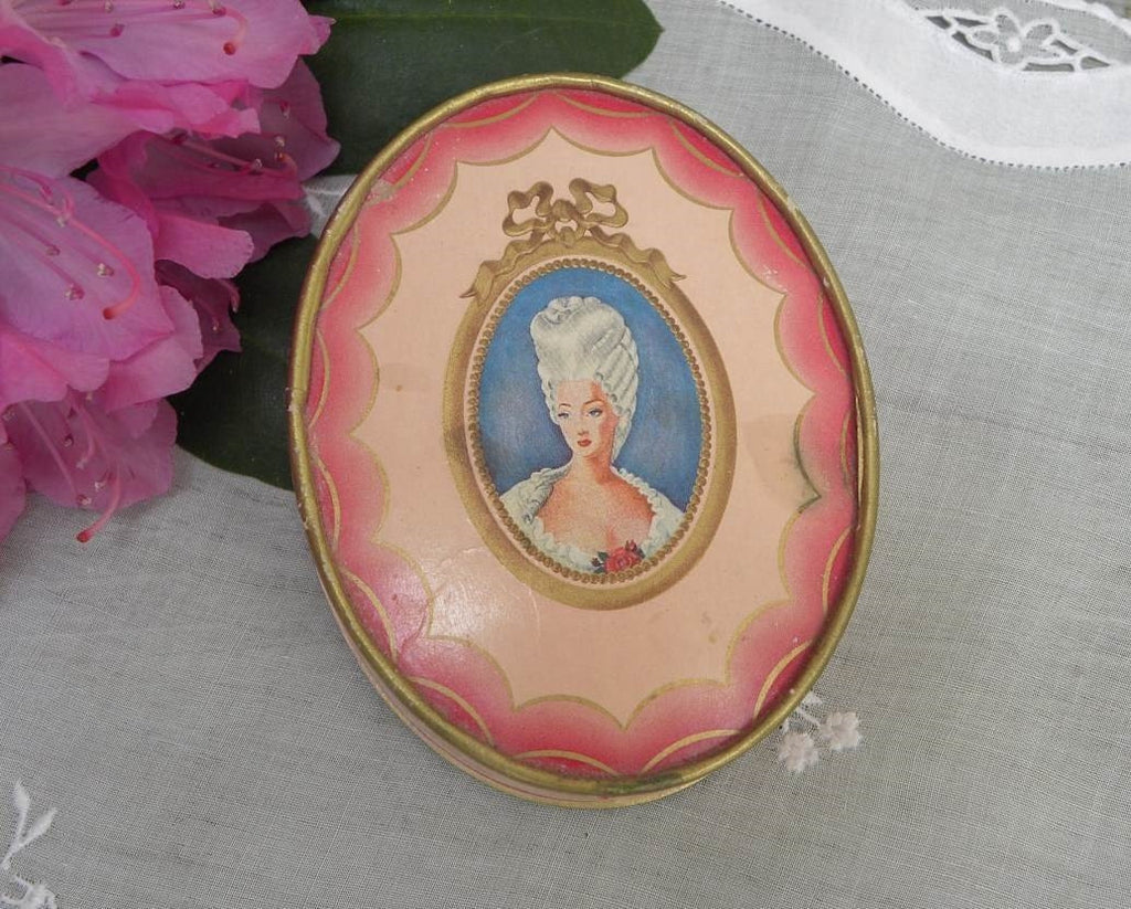 Vintage Du Barry Richard Hudnut Pink Powder Box - The Pink Rose Cottage