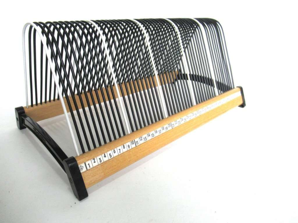 UpperDutch:Record Holder,Vinyl Record Storage, Black and white Singles Holder, stand for 7