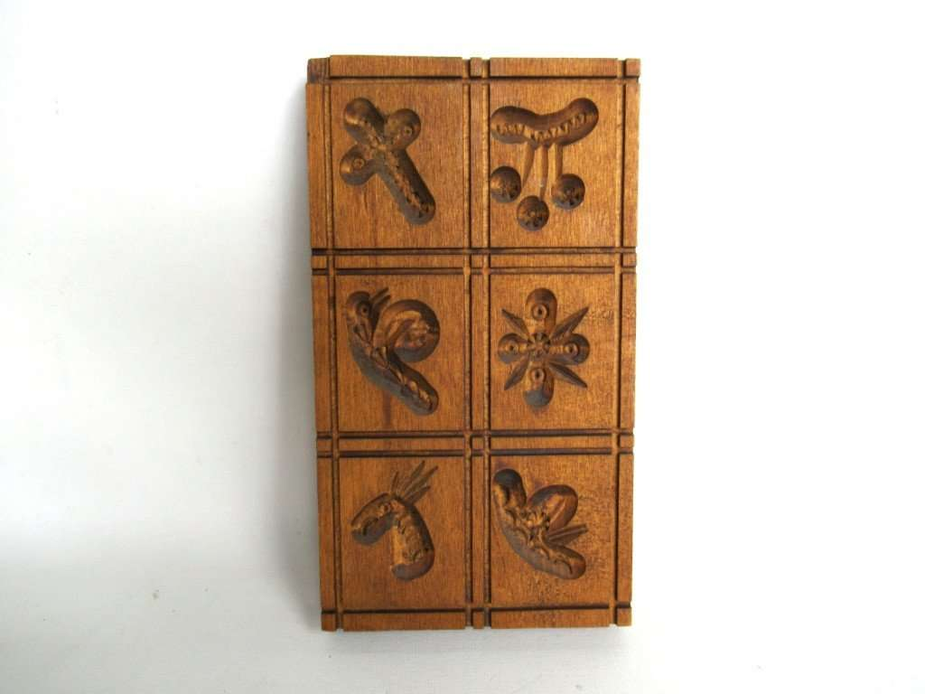 UpperDutch:Cookie Mold,Springerle, Vintage Wooden cookie mold.